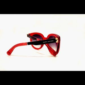 Marc Jacobs Red Lucite Sunglasses